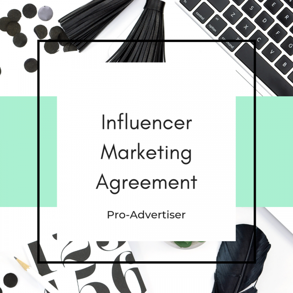 Influencer contract template for advertisers