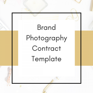 clickable link to buy brand photography contract template