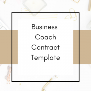 clickable link to business coach contract template