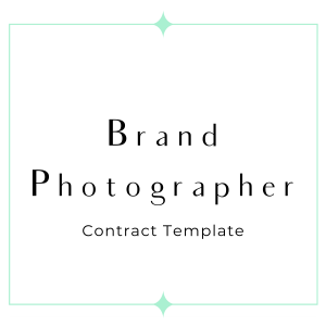brand photographer contract