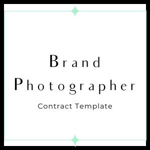 brand photographer contract