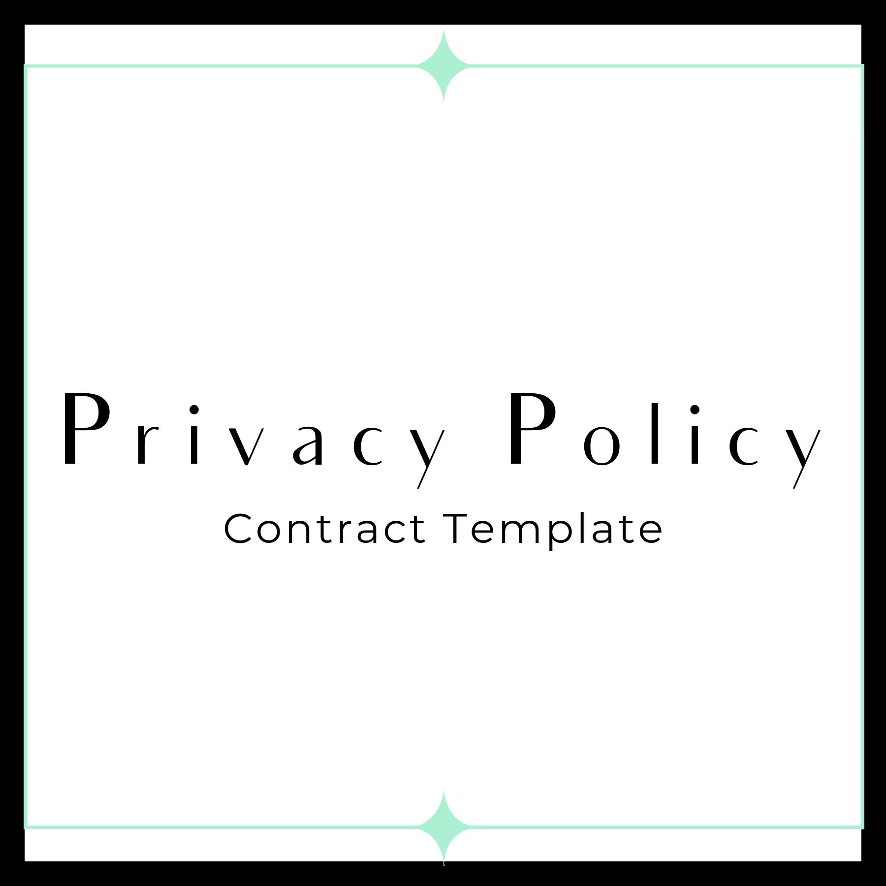 Privacy Policy Template 2019 >> Privacy Policy Gdpr Friendly